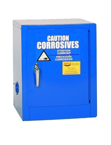 Eagle CRA-1904 Safety Cabinet for Corrosive Liquids, 1 Door Manual Close, 4 gallon, 22-1/2
