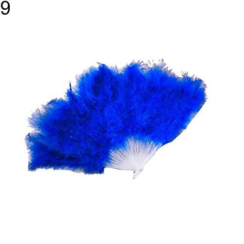 TRENTON Folding Handheld Feather Hand Fan Costume Halloween