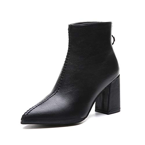 HOESCZS Stiefel Stiefel Stiefel Damen Woherren Herbst Und Winter Stiefel Damen Dicke Fersen Schuhe High Heels Chelsea Stiefel Bare Stiefel a2d5f4