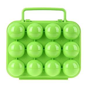 UEB Portauova Portatile Pieghevole Portauova in Plastica Contenitore Uova per Picnic all'aperto Campeggio (12 griglie) 1 spesavip