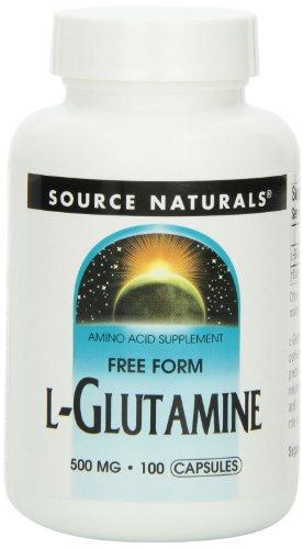 Source Naturals L-Glutamine 500mg, 100 Capsules (Pack of 3), Health Care Stuffs