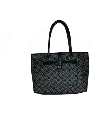 Women's Shopper Handbag, Large, Black Alpaca