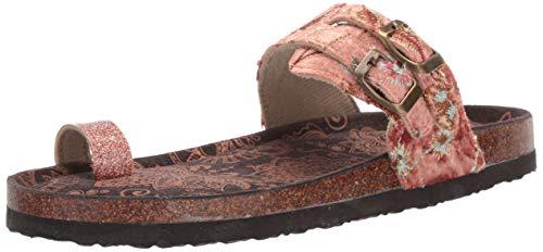 MUK LUKS Women's Daisy Terra Turf-Copper Sandal, 10 M US