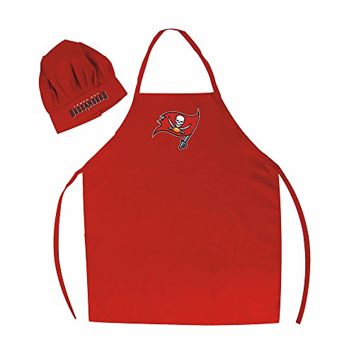 NFL Tampa Bay Buccaneers Chef Hat and Apron Set, Red, One Size ()