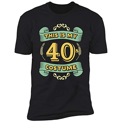This is My 40s Costume - Funny Halloween 40 Birthday Gag Gifts Premium T-Shirt -
