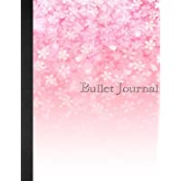 Bullet Journal: 8.5 x 11 - 160 pages - Watercolor - Cherry Blossom Flowers - Japan - Notebook Dotted Grid - soft cover glossy finish - journal, planner, organizer, dot point, sketch, calligraphy