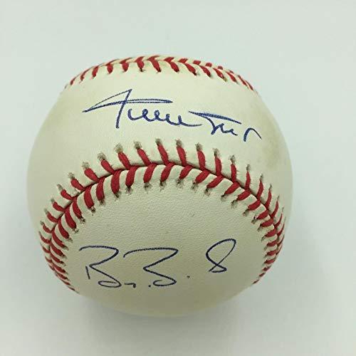 Willie Mays Barry Bonds Bobby Bonds Andre Dawson 30/30 Signed Baseball JSA COA