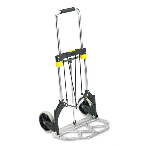 - Safco : Stow-Away Medium Hand Truck Cart, 275lb Capacity, 19-1/2w x 18d x 39h, Aluminum -:- Sold as 2 Packs of - 1 - / - Total of 2 Each