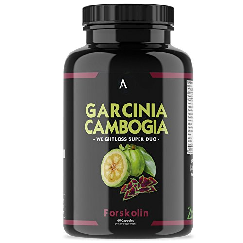 Angry Supplements Garcinia Cambogia with Forskolin Pill, Super Weightloss Booster, Premium All-Natural Detox for Fat Burning - Pure Extract in Capsule Form for Complete Diet, Active Health (1-Pack)
