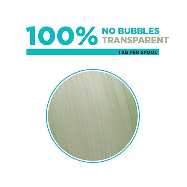 Tesseract 1.75mm Premium PETG Filament (1 KG Spool) (Clear)