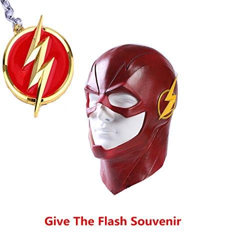 The Flash Barry Allen Mask Cosplay Prop Halloween Full Latex Mask Hood Helmet ()
