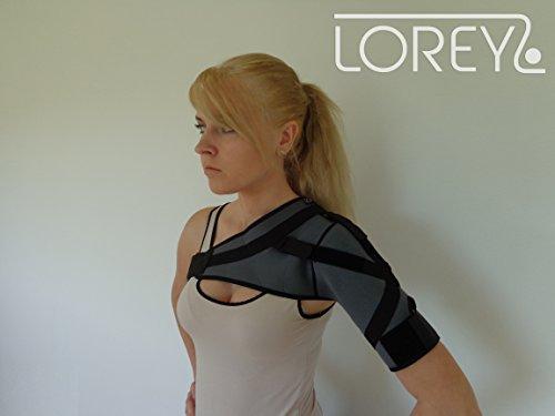 Hochwertige Schulterbandage, Schulter-Bandage aus 4 mm dickem Neopren Größe M
