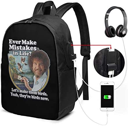 ビジネスリュック ボブ ロス メンズバックパック 手提げ リュック バックパックリュック 通勤 出張 大容量 イヤホンポート USB充電ポート付き 防水 PC収納 通勤 出張 旅行 通学 男女兼用
