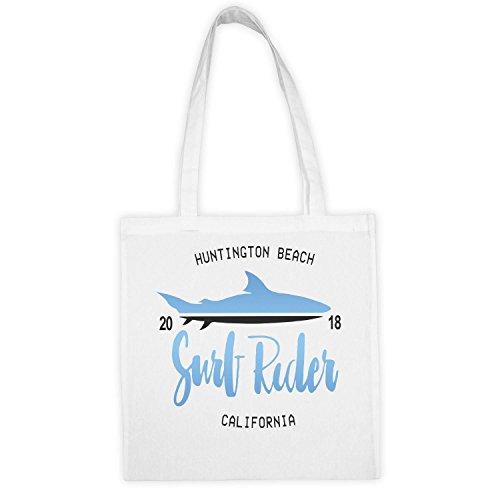 California Réutilisable Vintage Durable Poignées Surf Longues Shark Bien Et 2018 Cadeau Rider Matière En Ecologiste Extreeme Lavable Economique Canevas Coton Sac wItqAF7Rw