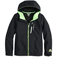 ZeroXposur Boys Warrior Softshell Full Zip Hooded Jacket - Lightweight Kids Hoodie Fleece Jacket