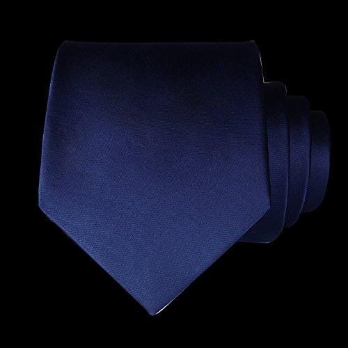Party Color Colors Necktie Set Navy Square Multiple Pocket amp; Men's Solid Tie Classic Blue Handkerchief Wedding HISDERN UBYRq1wwH