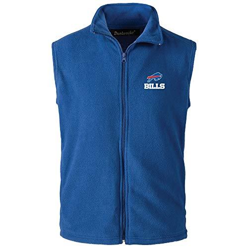 NFL Buffalo Bills Mens Houston Fleece Vest, Royal, X-Large ()