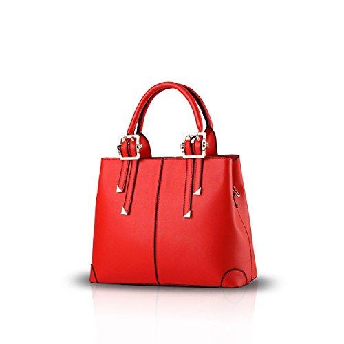 ADOO portable wine Red bag ladies handbag red fashion casual shoulder for bag 2017 New messenger purse f4qwCfr