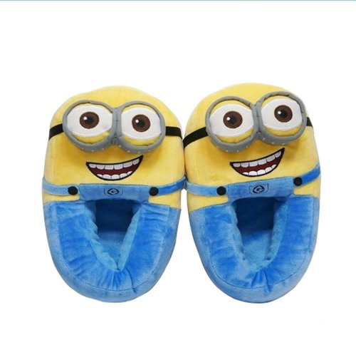 Flower Rain Despicable Me Minion Plush Slippers Plush House Slippers Soft Shoes -