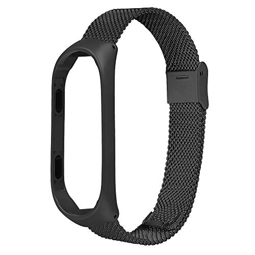 Top 42 Thick Glass 1/2 - Top New!!!Cindero for Xiaomi Mi Band 3 Bracelet Stainless Steel Milanese Luxury Stainless Steel