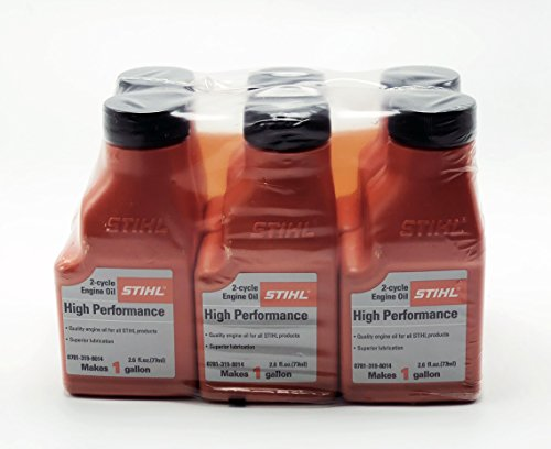 (Stihl High Performance 2-Cycle Engine Oil (2.6 Oz) 0781 319 8014-6 Pack)