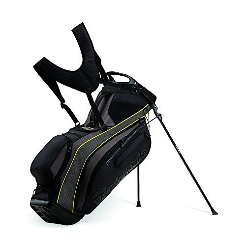TaylorMade Purelite Stand Bag Blk/Yel/Charc Blk/Yel/Charc by Purelite TM16