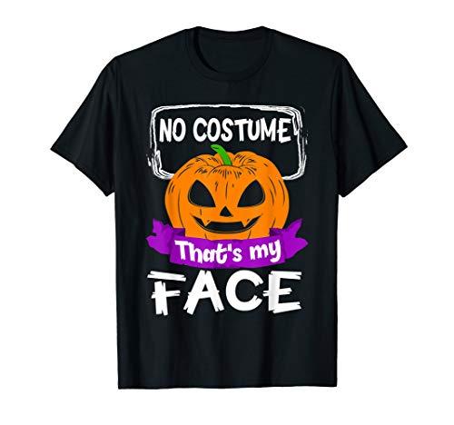 No Costume That's My Face Halloween Pumpkin Shirt For Kids
