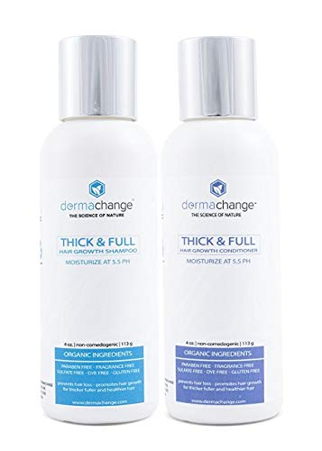 Organic Vegan Natural Hair Growth Shampoo and Conditioner Set - Sulfate Free - Hair Regrowth With...
