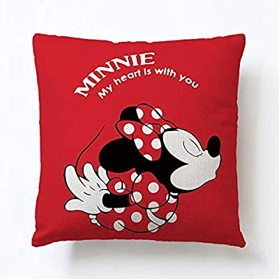 Mickey Mouse Pillow Coussin Minnie cojines del Mickey cuscino Minnie Mickey oreiller Cute (E 45X45Cm Unstuffed): Kitchen & Dining