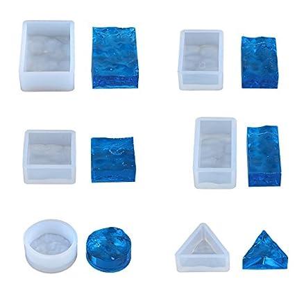 Kit de moldes de resina para hacer collar, colgante, el agua ondulada de silicona