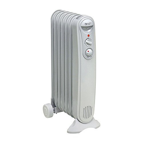 Comfort Zone Oil-Filled Electric Radiator Heater | 3 Heat Settings with Silent Operation