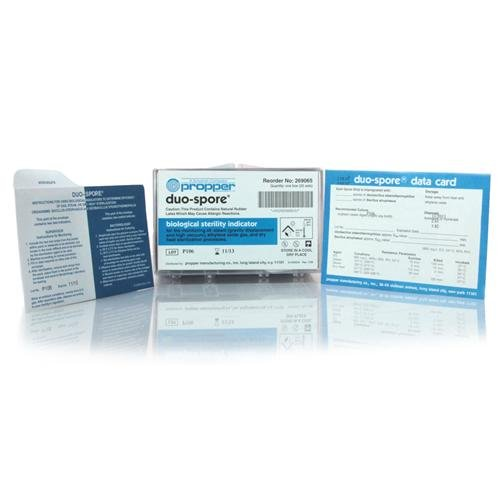 Propper Manufacturing 26909200 Duo Spore Biological Indicator Test Envelope Include Culture Service