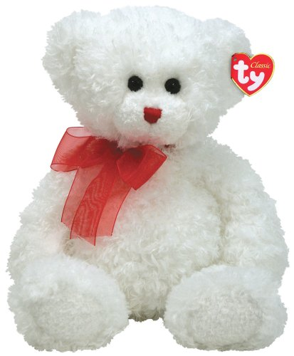 Hollibear – bianca Bear with rosso Ribbon