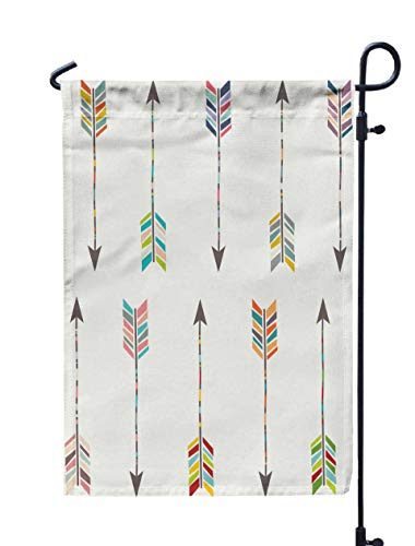 Jacrane Welcome Small Garden Flag 12X18 Inches Tribal Arrow Collection Double-Sided Seasonal House Yard Flags Decorative