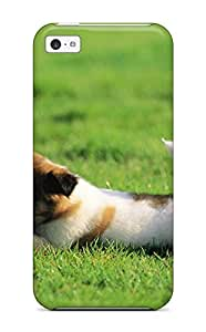 Durable Defender Case For Iphone 5c Tpu Cover(puppy Chewing A Ball)