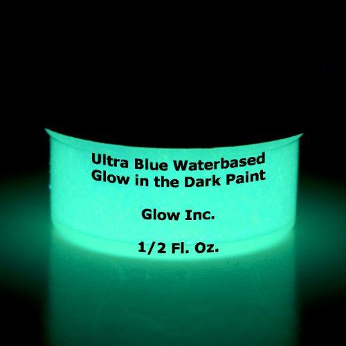 Ultra Blue Glow in the Dark Paint 1/2 Fluid Ounce Dark Energy Gallon