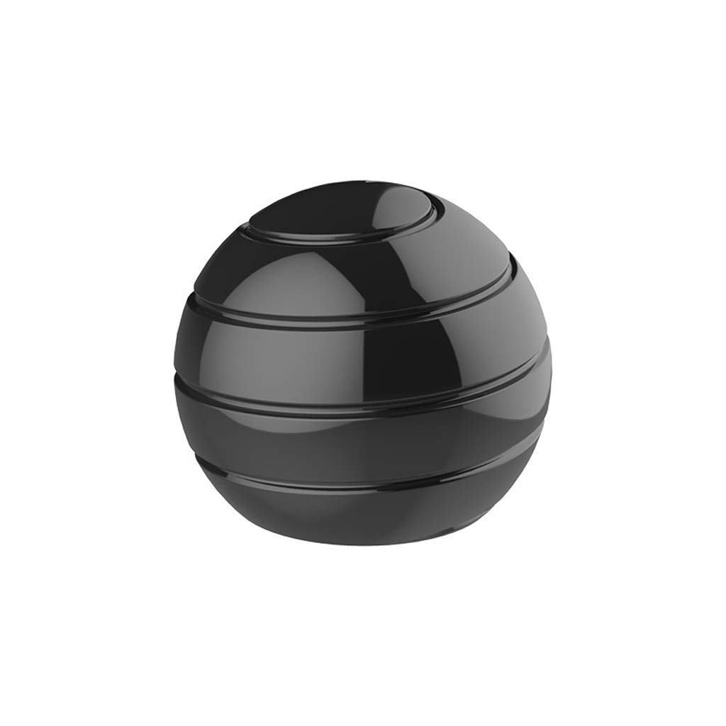 UEHGMD Toy Model Desktop Ball Transfer Gyro Metal Stainless Steel Rotary Decompression Toy (Color : Schwarz)