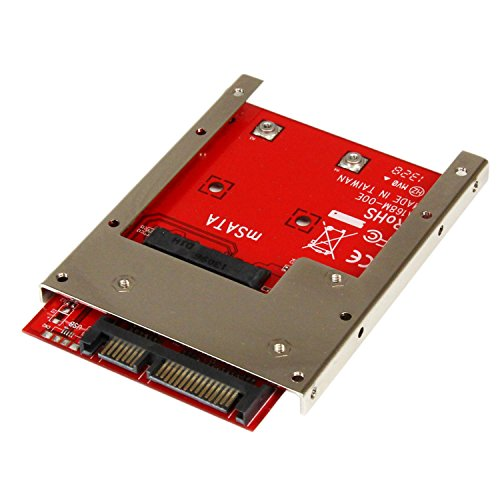 StarTech.com mSATA SSD to 2.5-Inch SATA Adapter Converter with Open Frame Bracket and 7mm Drive Height (SAT32MSAT257)