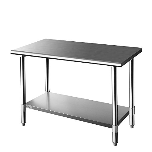 Z Grill Stainless Steel Prep Work Table 24 x 48 inches for Commercial Kitchen Restaurant