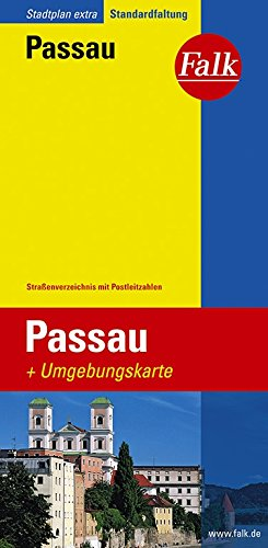 Falk Stadtplan Extra Standardfaltung Passau
