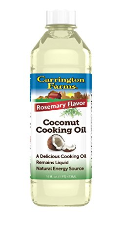 Carrington Farms Coconut Cooking Oil, Rosemary Flavor, 16 Ounce, Packaging May Vary