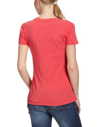 Pink Maglietta donna collo rotondo Rio corta manica bobi Rosso a61gq0w