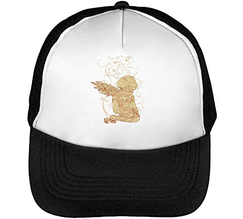 Angel Reading Gorras Hombre Snapback Beisbol Negro Blanco