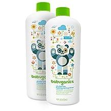 Babyganics Alcohol-Free Foaming Hand Sanitizer Refill, Fragrance Free, 16oz Bottle (Pack of 2)