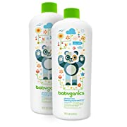 Babyganics Alcohol-Free Foaming Hand Sanitizer Refill, Fragrance Free, 16oz Bottle (Pack of 2)
