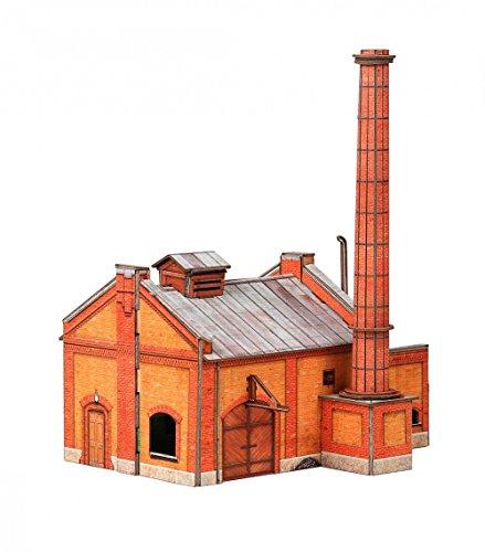 KERANOVA Clever Paper Railway Collection Buildings Boiler House 3D Puzzle, 18 x 13 x 21 cm, 1/87 Scale