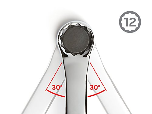 TEKTON 45-Degree Offset Box End Wrench Set with Roll-up Storage Pouch, Metric, 6 mm- 32 mm, 11-Piece | WBE24511 by TEKTON (Image #4)
