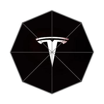TODO tipo de clima paraguas Tesla Motors Custom lluvia plegable paraguas de viaje