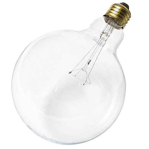 Satco 40G40 Incandescent Globe Light, 40W E26 G40, Clear Bulb [Pack of 6]