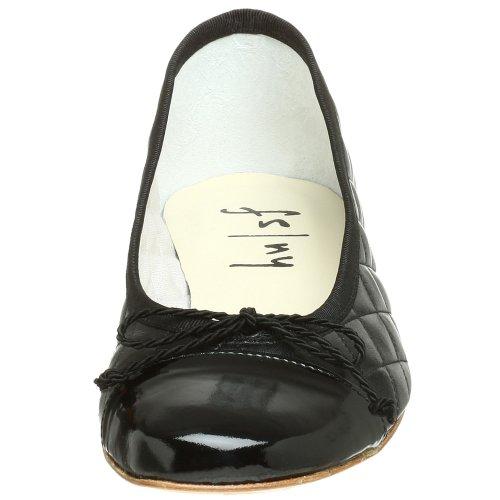Passport French Leather Black Ballet Fs Flat Patent Sole Ny Black Women's qZwrg4IZvH